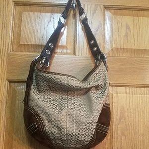 Coach hobo bag, brown, large